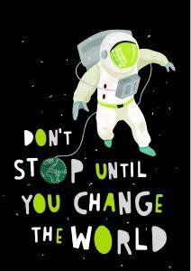 Motiv Protestonaut Award (black): Don't stop until you change the world