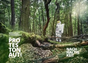 Titelseite Protestonaut-Kalender 2021 zum Thema Nachhaltigkeit